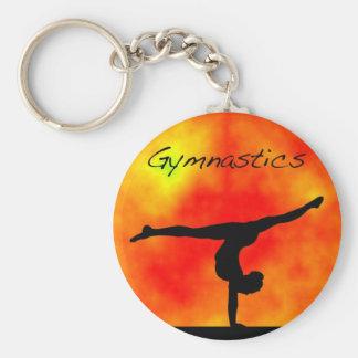 Oranje Gymnastiek Keychain Sleutelhanger