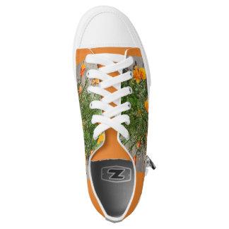 Oranje het mannensneakers van de Papaver van Low Top Schoenen