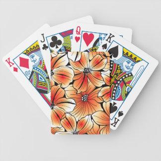 Oranje hibiscus poker kaarten
