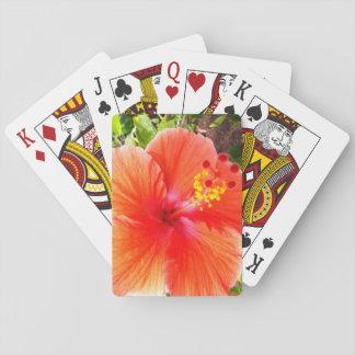 Oranje Hibiscus Speelkaarten