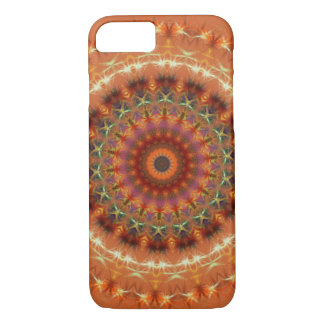 Oranje iPhone 7 van Mandala van de Aarde hoesje