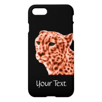 Oranje jachtluipaard iPhone 8/7 hoesje