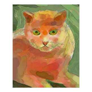Oranje Kat Poster