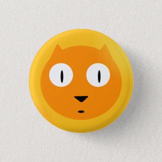 Oranje Kat Scaredy Ronde Button 3,2 Cm