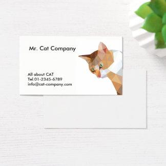 Oranje katten lage veelhoek, bruin gezicht met visitekaartjes
