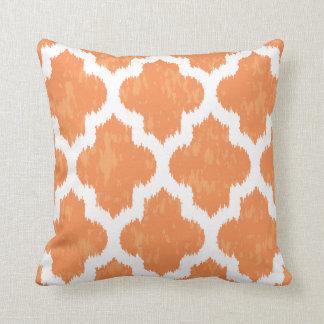 Oranje Klassieke Moderne Geometrisch van Ikat Sierkussen