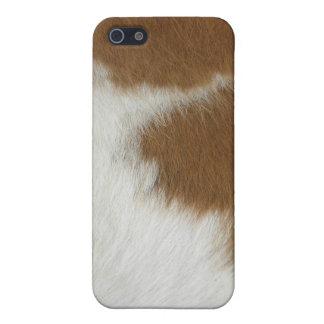 Oranje koehuid iPhone 5 case