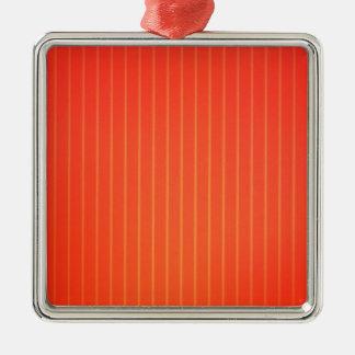 Oranje LEIDENE lamp Zilverkleurig Vierkant Ornament