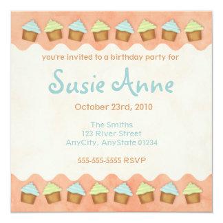 Oranje Leuke Uitnodiging Cupcakes
