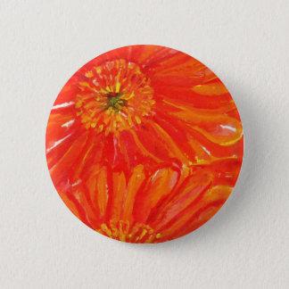 Oranje Madeliefjes Gerbera Ronde Button 5,7 Cm