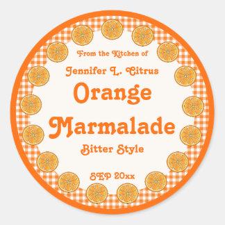 Oranje Marmelade op Gingang Ronde Sticker