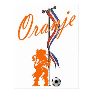 Oranje Nederland markeert Totale footballbanner Briefkaart