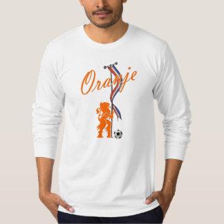 Oranje Nederland markeert Totale footballbanner T Shirt