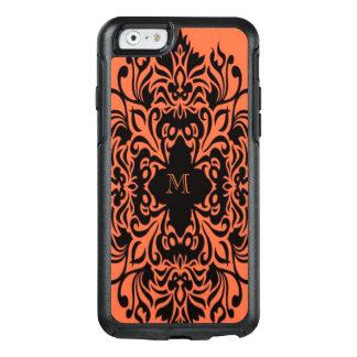 Oranje OtterBox iPhone6/6s Hoesje van het monogram