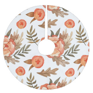 Oranje patroon van de de batikbloem van de Herfst Kerstboom Rok