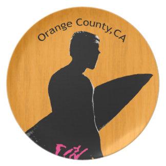 Oranje Provincie Surfer Diner Bord