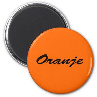 Oranje Ronde Magneet 5,7 Cm
