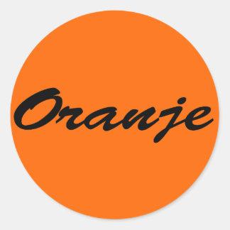 Oranje Ronde Sticker
