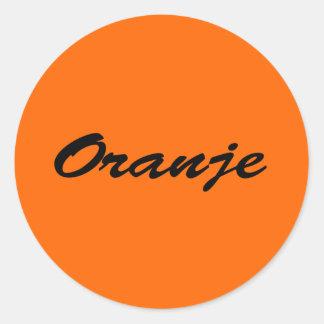 Oranje Ronde Stickers