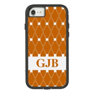 Oranje Rooster Argyle met monogram Case-Mate Tough Extreme iPhone 8/7 Hoesje