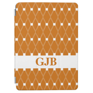 Oranje Rooster Argyle met monogram iPad Air Cover