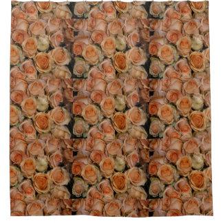 Oranje Rozen Douchegordijn