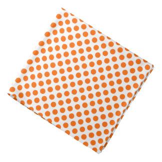 Oranje Stippen op Wit Bandana