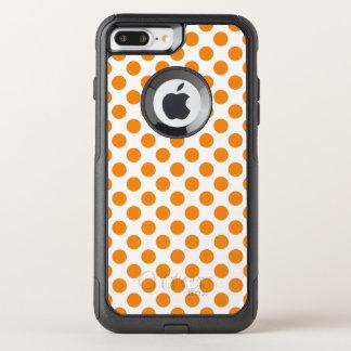 Oranje Stippen OtterBox Commuter iPhone 7 Plus Hoesje