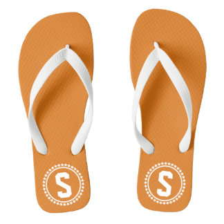 Oranje Super Ster Met monogram Teenslippers