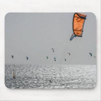 Oranje surfe vlieger mousepad muismatten