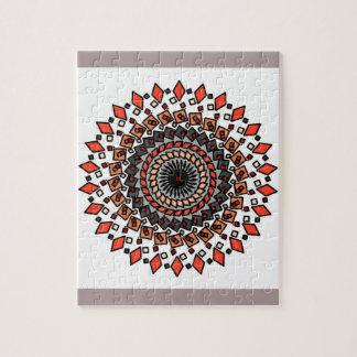 Oranje Tan het Geometrische Spiraalvormige Raadsel Legpuzzel
