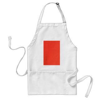 Oranje van het de textuurpatroon van het Leer Standaard Schort