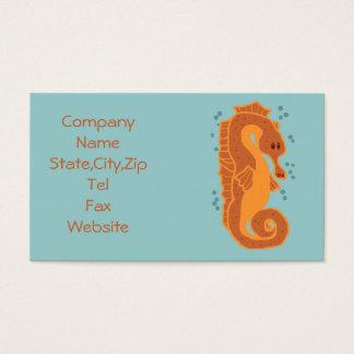 Oranje Visitekaartjes Seahorse