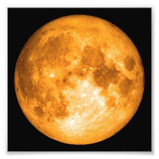 oranje volle maan foto