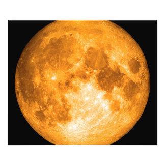 oranje volle maan foto afdrukken