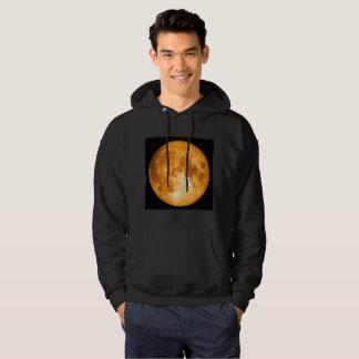 oranje volle maan hoodie