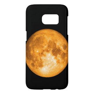 oranje volle maan samsung galaxy s7 hoesje