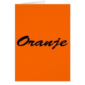 Oranje Wenskaart