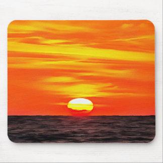 Oranje Zonsondergang Muismat