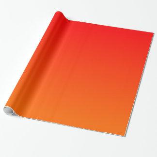 Oranjerode Gradiënt Cadeaupapier