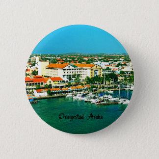 Oranjestad Aruba Ronde Button 5,7 Cm