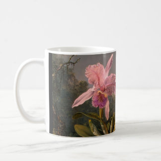 Orchidee en drie Braziliaanse Zoemende Vogels Koffiemok