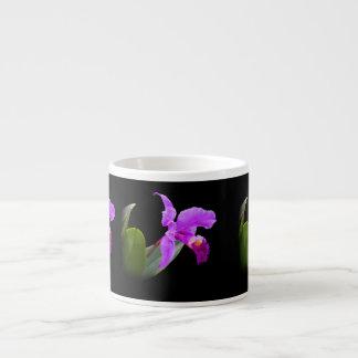 Orchidee op de Zwarte Klantgerichte Mok van de Spe