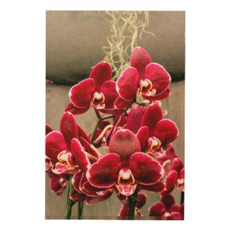 Orchideeën Hout Afdruk
