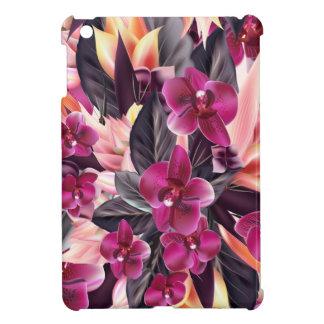 Orchideeën. Tropisch ontwerp met mooie bloemen Hoesje Voor iPad Mini