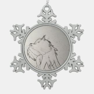 Ordement van Wolfo Tin Sneeuwvlok Ornament