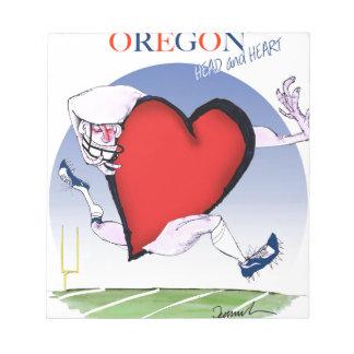 Oregon hoofdhart, tony fernandes notitieblok