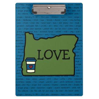 Oregon & Koffie Klembord