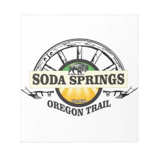 Oregon van de sodalentes sleepart. notitieblok