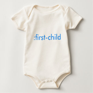 : organisch eerste-kind baby shirt